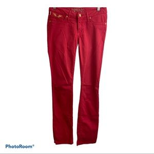Robins jeans with Gold wings in back. 26